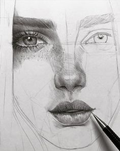 Pencil drawing tutorials, beautiful drawings, amazing art, drawing people f Realistic Pencil Drawings, Amazing Drawings, Beautiful Drawings, Realistic Hair Drawing, Drawing Techniques Pencil, Drawing Process, Amazing Artwork, Beautiful Pictures, Drawing People Faces