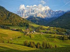 Un lindo paisaje de Italia