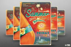 Summer Fest Flyer Template V4 by Thats Design Store on @creativemarket