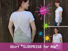 Produktfoto von klecksMACS für Schnittmuster Surprise for Me Jersey Shirt, Dame, Shirts, Etsy, Books, Fashion, Sewing Patterns, Tutorials, Nice Asses
