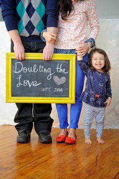 A Year Of Optimism...pregnancy announcement idea