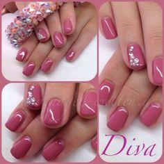 pink gel, rhine stones & pearls