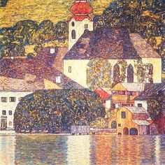 PrestigeArtStudios Church on the Attersee Painting Print