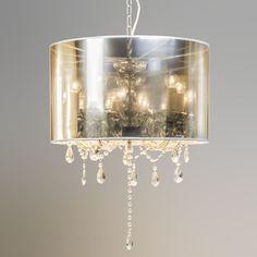Kronleuchter Marie Theresa 5 mit Magic Schirm  Wunderschöner Kristall - Kronleuchter, eine harmonische Verbindung zwischen Klassik und Moderne. #Innenbeleuchtung #Pendelleuchte #lampenundleuchten.at
