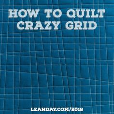 Is free motion quilting driving you crazy? It's time to give walking foot quilting a try! Come learn how to quilt Crazy Grid with me today and learn how to let your machine and your walking foot do all the work. Find the post here: https://leahday.com/pages/how-to-quilt-crazy-grid-walking-foot-quilting-tutorial