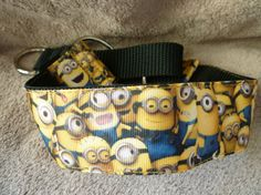 1.5 inch Martingale Greyhound / Lurcher / Whippet Collar - Minions