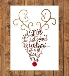 Rudolph the red nosed reindeer calligraphy art (Cheese Logo Printing On Fabric) Rudolph Christmas, Christmas Signs, Winter Christmas, All Things Christmas, Christmas Holidays, Christmas Decorations, Christmas Quotes, Pretty Writing, Christmas Canvas