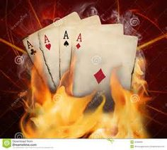 burning poker card
