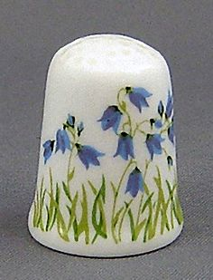 RP: Caverswall Thimble - August Flower of the Month Harebells - etsy.com