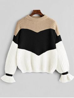 Contrast Chunky Knit Sweater