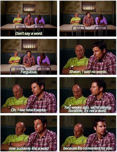 one of my ALL TIME favorite PSYCH moments...called my sister when i saw this to tell her how funny it was