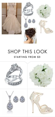 """""""A Wedding Day"""" by smithy-32 ❤ liked on Polyvore featuring Bling Jewelry and Jimmy Choo"""
