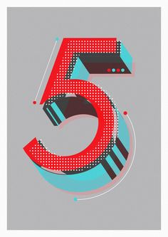 FiveBy Neil stevens Currently working through an alphabet of initial lettering for editorial uses and just got to the numbers which are a lot of fun to create. Thus far this if my favourite. Cool Typography, Typography Letters, Graphic Design Typography, Lettering Design, Number Typography, Logo Design, Typography Layout, Vintage Typography, Typography Quotes