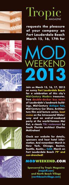 MOD WEEKEND 2013 Fort Lauderdale Beach, Double Decker Bus, Tropical, Tours