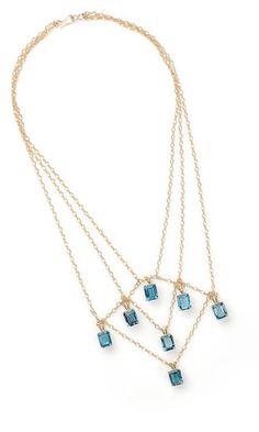 Triple-Strand Necklace with London Blue Topaz Gemstone Beads and Gold-Filled Beads - Fire Mountain Gems and Beads