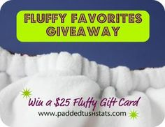 $25 Gift Card to a #clothdiaper retailer or brand! Open to US residents, ends 1/31.