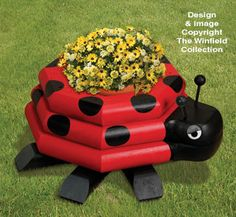 Landscape Timber Ladybug Planter Plan