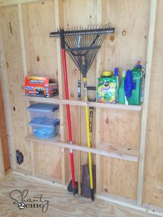"""Garage Storage on a Budget • Ideas and tutorials, including these """"pocket tool organizers"""" by 'Shanty 2 Chic'!"""