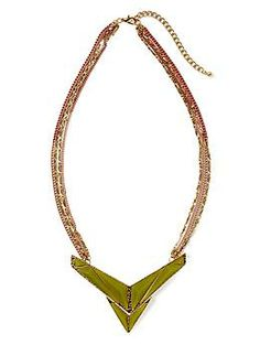 Tinley Road Double Arrow Pendant Necklace | Piperlime