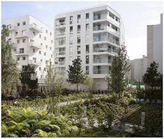Immeuble de logement, Francois Leclercq Architectes, 2013.  ZAC des Bords de Seine, Issy-les-Moulineaux.