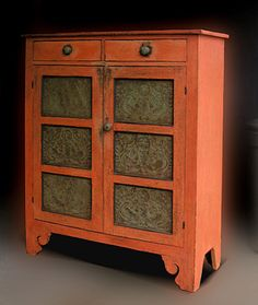 pie safes.  love the thought of a time when you had a cabinet just to store pies.