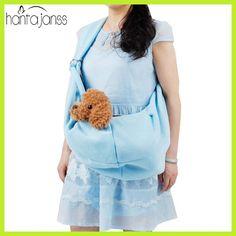 HANTAJANSS Hands-Free Reversible Small Dog Cat Sling Carrier Bag Outdoor Travel Double-sided Kangaroo Pocket Shoulder Bags