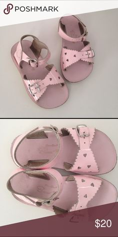 Saltwater sandals pink size 8 Saltwater sandals. Pink. Size 8. Can get wet. Great sandal for spring and summer. Can be dressed up or dressed down a day at the beach. Excellent condition Salt Water Sandals by Hoy Shoes Sandals & Flip Flops