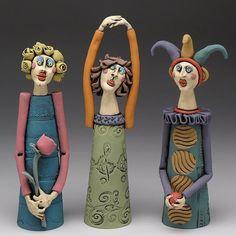 Handmade Clay Figures and Animal Sculpures by KimberlyRorick – Handwerk und Basteln Ceramic Pottery, Pottery Art, Ceramic Art, Ceramic Figures, Clay Figures, Paper Mache Sculpture, Sculpture Art, Metal Sculptures, Abstract Sculpture
