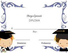 Certificate Design, Certificate Templates, Kids Library, Cartoon Background, Preschool, Graduation, Photos, Ideas Originales, Classroom Calendar