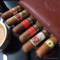 My buddies are ready for a short family trip while a national holidays today a small bunch of different robustos in a #hupmann #robusto leather travel case have all a great Monday now and #cigar #cigars #cigarporn #cigarlover #cigarworld #cigaroftheday #cigaraficionado #cigarsmokingmodel #Botl #bonvivantmag #TheCigarSmoker #TailoredAsh #habanos #HappySmoking #dupont #dupontvirus #Trinidad #robustoT #hoyodemonterrey #epicure2 #partagas #serieD4 #romeoyjulieta #shortchurchill #hupmann #rob...
