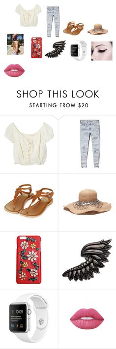 """""""Untitled #63"""" by mackenzie-marsinelli on Polyvore featuring Jens Pirate Booty, Abercrombie & Fitch, Topshop, Dolce&Gabbana, Roberto Cavalli and Lime Crime"""
