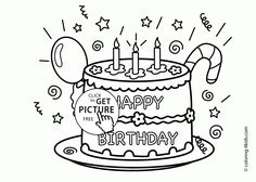 Happy Birthday Printable Coloring Pages Inspirational Get This Happy Birthday Coloring Pages Free Printable Cupcake Coloring Pages, Happy Birthday Coloring Pages, Coloring Pages For Boys, Free Printable Coloring Pages, Free Coloring Pages, Coloring Sheets, Kids Coloring, Colouring, Fall Coloring