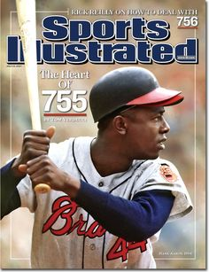 Hank Aaron on cover of Sports Illustrated - July 23, 2007.