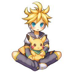 Len & Pikachu - Vocaloid & Pokemon