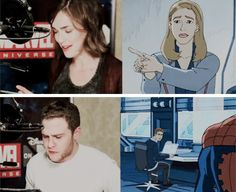 FitzSimmons making an appearance in a Disney XD Ultimate Spiderman episode
