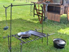 Camp Bipod-Hand Forged Chuckbox & Components | Hansen Wheel and Wagon