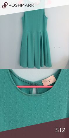 Everly Fit-and-Flare dress Size small, teal, slightly textured. Worn twice and in great condition. Super flattering. Everly Dresses Mini
