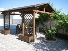 Pergolas Kamra, Food Vans, Greenhouses, Backyard Landscaping, Fence, Gazebo, Outdoor Living, Diy And Crafts, Gardening