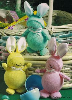 Sock Easter Bunnies - Make them greener by stuffing with old socks instead of styrofoam.