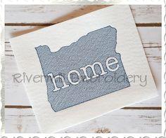 $2.95Sketch Style Oregon Home Machine Embroidery Design