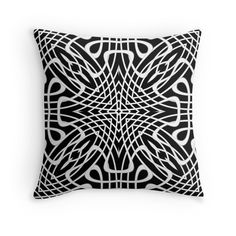 Butterfly - Throw Pillow Cover - Black - pop over to the designer's own shop at annumar.com