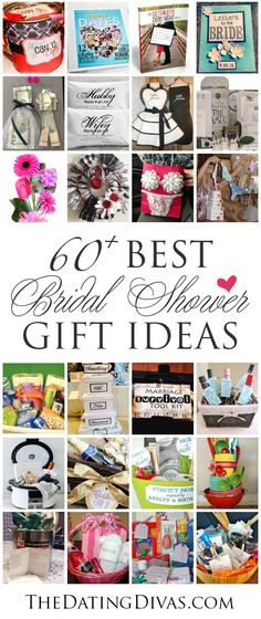 TONS of the best, creative bridal shower gift ideas. I love these- especially the gift basket ideas!