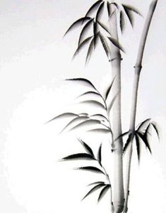 Sumi-e - painting and calligraphy Bamboo Drawing, Bamboo Art, Bamboo Crafts, Japanese Painting, Chinese Painting, Chinese Art, Chinese Brush, Japanese Drawings, Japanese Art