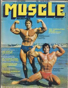 In the Arnold often trained with Franco Columbu from Sardinia. While Arnold would often win the Mr Olympia title, Franco would win the Under 200 pound class. Arnold Schwarzenegger Movies, Muscle Builder, Mr Olympia, Powerlifting, Physique, Athlete, Fitness Motivation, Champion, Exercise