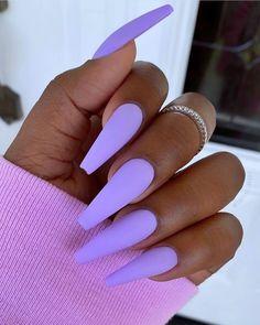 Light Purple Nails, Purple Acrylic Nails, Violet Nails, Best Acrylic Nails, Summer Acrylic Nails, Purple Art, Pink Nails, Purple Nail Designs, Acrylic Nail Designs