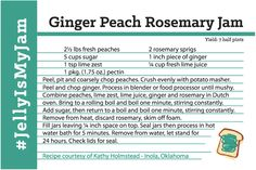 Go on a culinary adventure that your tastebuds will love with this yummy Ginger Peach Rosemary Jam recipe. #okjellymaking #jellyismyjam