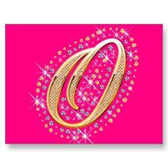 Shop Golden Letter O - Postcard created by uniqueprincess. Postcard Size, Smudging, Paper Texture, Initials, Backdrops, Diamonds, Lettering, Prints, Gold