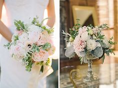 Classic wedding flowers by Violetta Flowers, San Francisco.