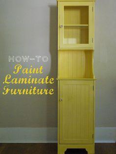 How to Paint Laminate Furniture | fabuloushomeblog.comfabuloushomeblog.com