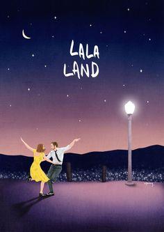 영화 라라랜드 굿즈 일러스트 작업 너무나 사랑스러운 영화입니다 : )